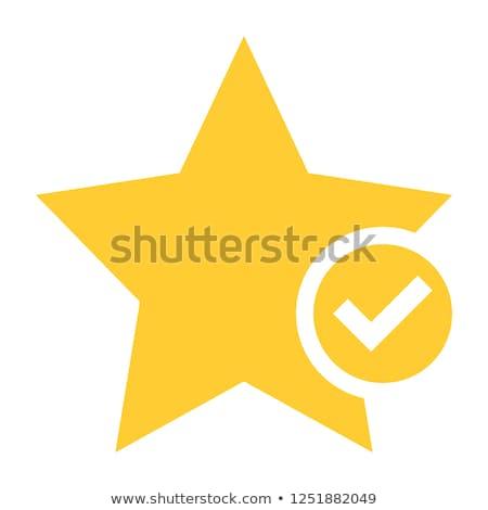 Yellow tick in checkbox vector illustration. Stock photo © RAStudio