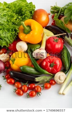 Frischen farbenreich Zucchini voll grünen gelb Stock foto © zhekos