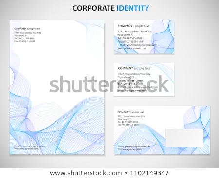 創造 水色 テンプレート デザイン 紙 ストックフォト © SArts
