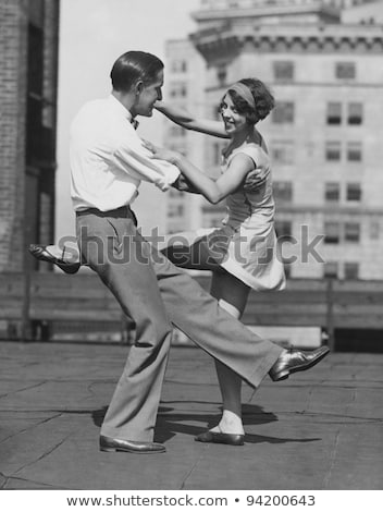 Man dancing on urban rooftop Stock photo © IS2
