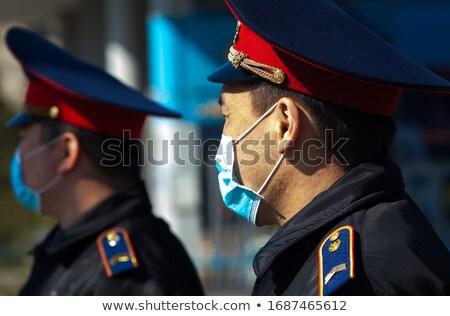 человека флаг Казахстан толпа 3d иллюстрации знак Сток-фото © MikhailMishchenko
