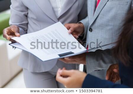 Empresário dobrador branco teia Foto stock © wavebreak_media