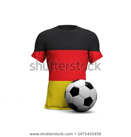 balón · de · fútbol · 3D · Alemania - foto stock © Wetzkaz