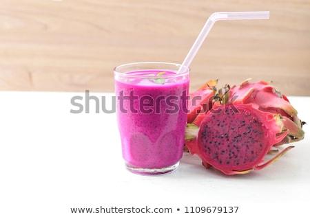 Smoothie vruchten voedsel glas achtergrond ontbijt Stockfoto © M-studio