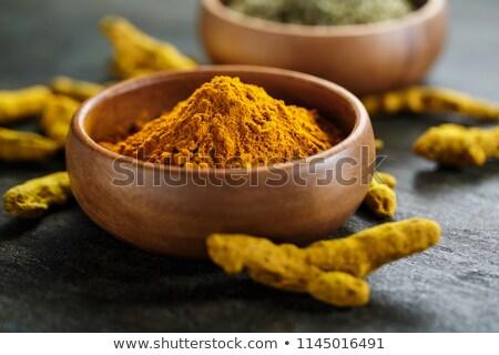 curcuma powder and root Stock photo © M-studio
