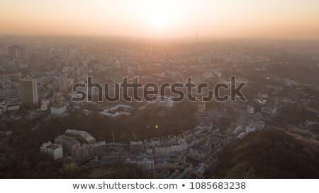 телевидение · башни · закат · город · металл · Восход - Сток-фото © artjazz
