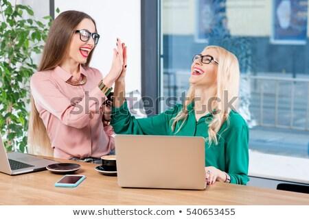 twee · onderneemsters · business · paar · baan · manager - stockfoto © is2