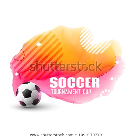 awesome soccer tournament background in memphis style Stock photo © SArts