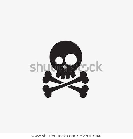 pirate skull and cross bones cartoon stock photo © krisdog