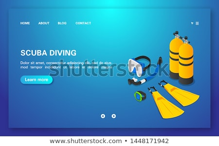Diving club. Vector illustration with flippers Stock photo © m_pavlov