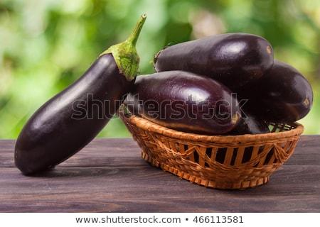 Organic Purple Eggplant Green Blur Background Stock photo © bluering