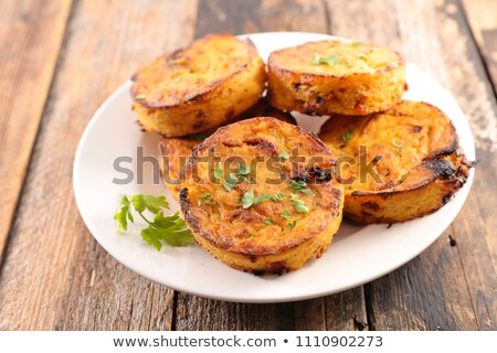 polenta galette with cheese and vegetable stock photo © m-studio