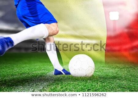 Voetballer bal digitaal gegenereerde vlag Stockfoto © wavebreak_media