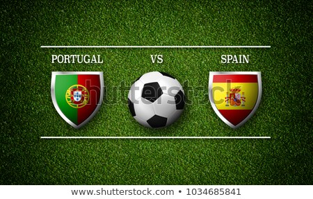 футбола матча Португалия против Испания Футбол Сток-фото © Zerbor