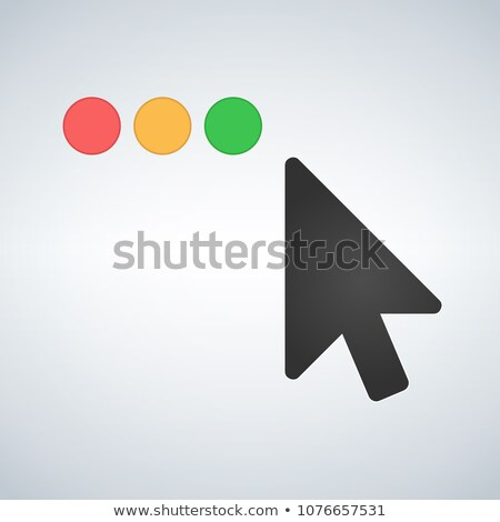 Clean OS or Web multicolor buttons with mouse cursor. Close minimize zoom full screen and expand but Stock photo © kyryloff