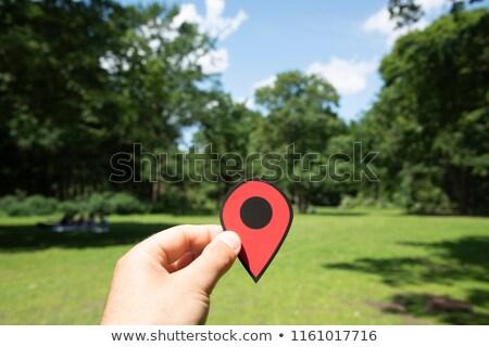 человека красный маркер парка Берлин Сток-фото © nito