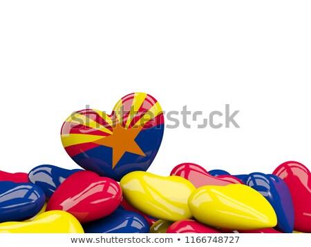 Аризона · флаг · синий · звездой · красный · рисунок - Сток-фото © mikhailmishchenko