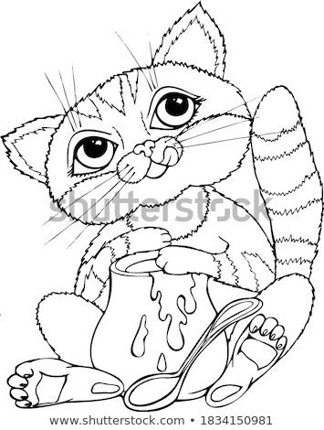 Cartoon rojo panda ejecutando lejos ilustración Foto stock © cthoman