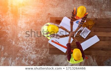 Profissional trabalhando diagrama discutir construção planos Foto stock © snowing