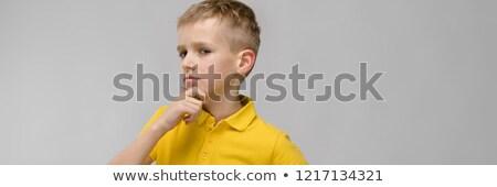 портрет Cute мало блондинка кавказский мальчика Сток-фото © Traimak