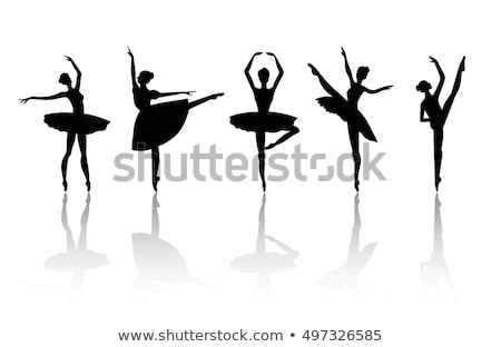 セット · ダンス · 少女 · バレエ · シルエット · ベクトル - ストックフォト © krisdog