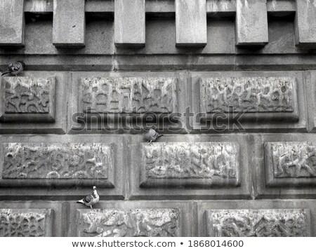 Closeup photo of old shabby stone wall outdoors Stock photo © bezikus