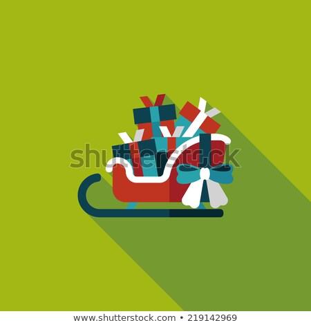 Trenó iglu ilustração árvore arte Foto stock © bluering
