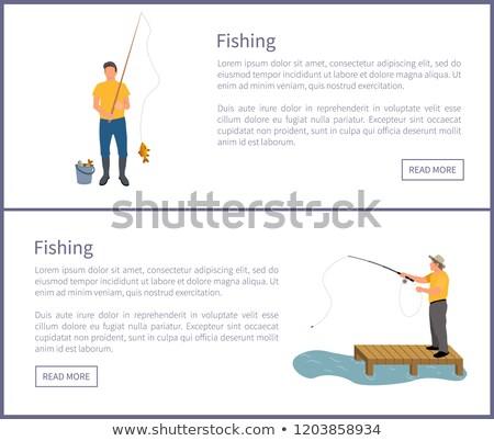 Pesca uomini manifesti set titolo Foto d'archivio © robuart
