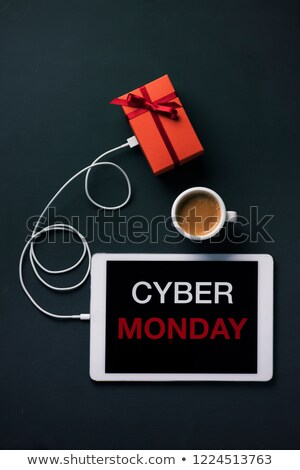 gift and text Cyber Monday in a tablet Stock photo © nito
