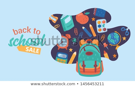 Back to School Posters Set of Childish Backpacks Stock photo © robuart