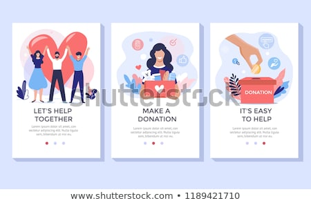 Volunteers and Charity Set Vector Illustration Stock photo © robuart