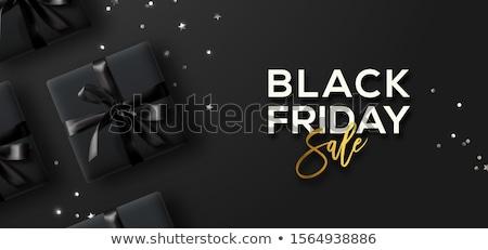 Streszczenie black friday sprzedaży konfetti projektu tle Zdjęcia stock © SArts