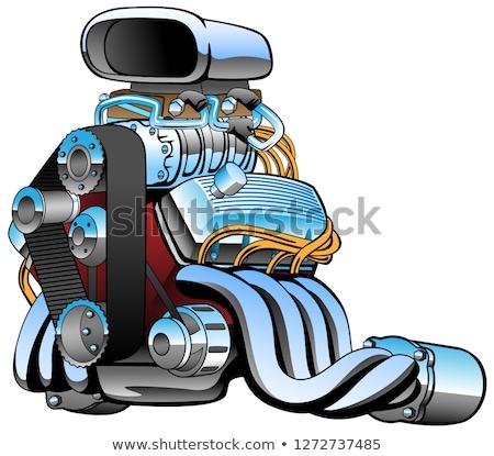 レースカー エンジン 漫画 クロム 巨大な ストックフォト © jeff_hobrath