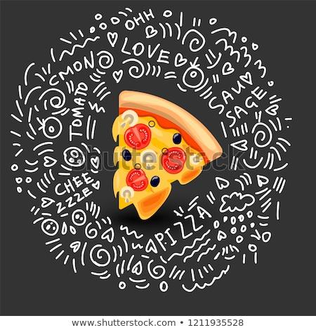 Cartoon colore vettore scarabocchi cucina italiana illustrazione Foto d'archivio © balabolka