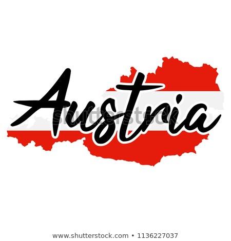 Австрия логотип вектора икона карта дизайна Сток-фото © blaskorizov