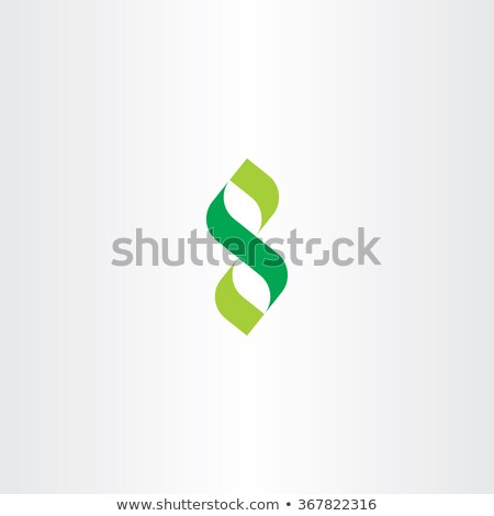 Verde carta número ocho vector icono Foto stock © blaskorizov