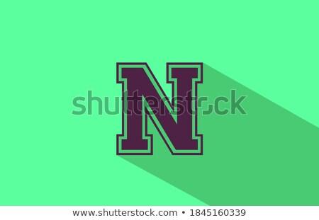 Yeşil kahverengi logo vektör ikon Stok fotoğraf © blaskorizov