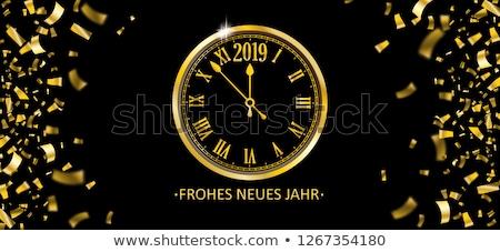 capodanno · mezzanotte · clock · copia · spazio - foto d'archivio © cienpies