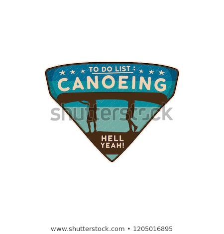 Logotipo emblema vintage viajar distintivo Foto stock © JeksonGraphics