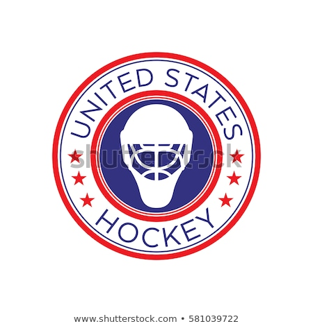 American Patriot Ice Hockey Shield Stock photo © patrimonio