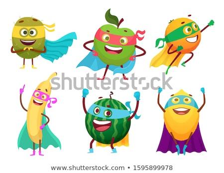 Frutas hortalizas mascota colección icono ilustración Foto stock © patrimonio