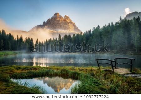 Stunning sunset in a mountain village Stock photo © Kotenko