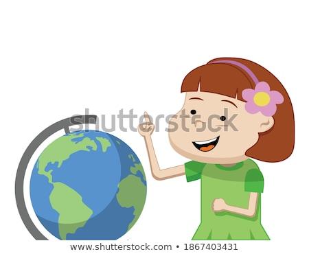 子供 少年 地理 考え 実例 着用 ストックフォト © lenm