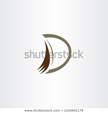 excavator bucket vector digger logo letter d vector Stock photo © blaskorizov
