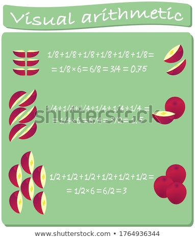 Worksheet template for easy multiplication Stock photo © colematt