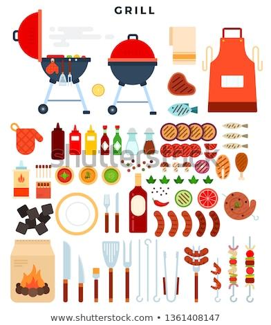 flessen · ketchup · mosterd · traditioneel · voedsel · glas - stockfoto © robuart