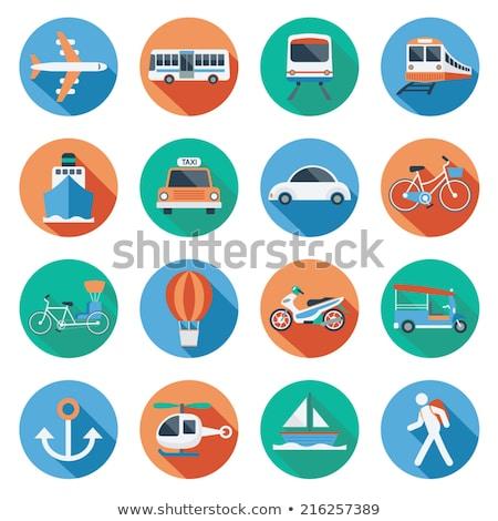 tricycle flat icon stock photo © smoki