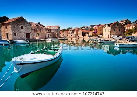 boats at marina in hvar croatia stock photo © boggy