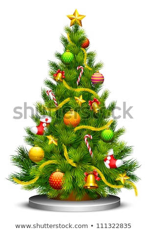 Christmas Pine Tree Decorated with Ball Vector Stock photo © robuart