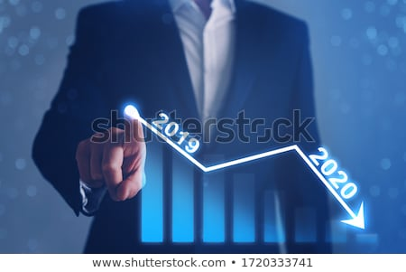 Stock photo: Businessman in crisis and recession concept